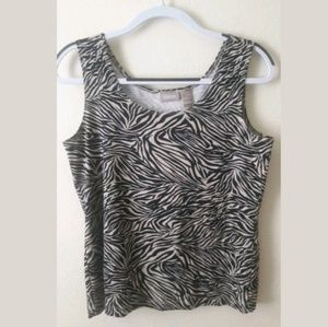 Chico's Tops - Chico's Sleeveless Animal Print Tank Top Size 1